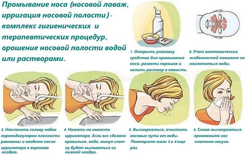 Как правильно промывать нос при насморке