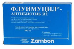 Флуимуцил-Антибиотик применяют для ингаляций