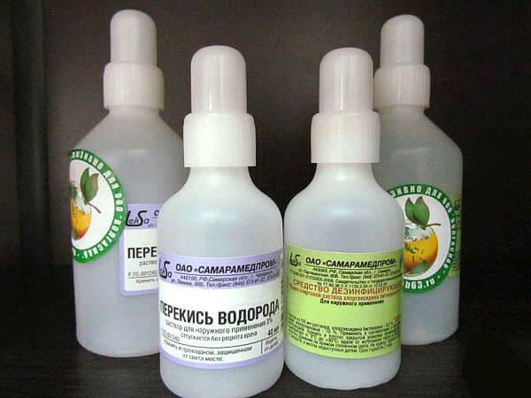 Перекись водорода используют для лечения насморку