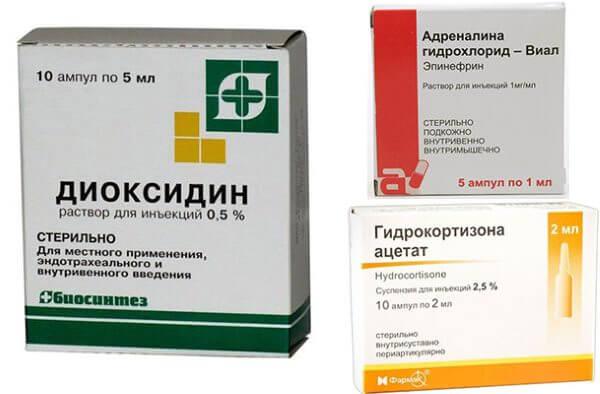 Компоненты сложных капель, применяемых для лечения нгасморка