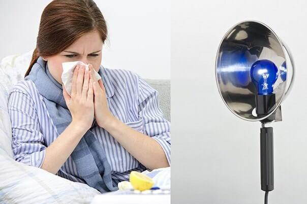 Синяя лампа для рогревания